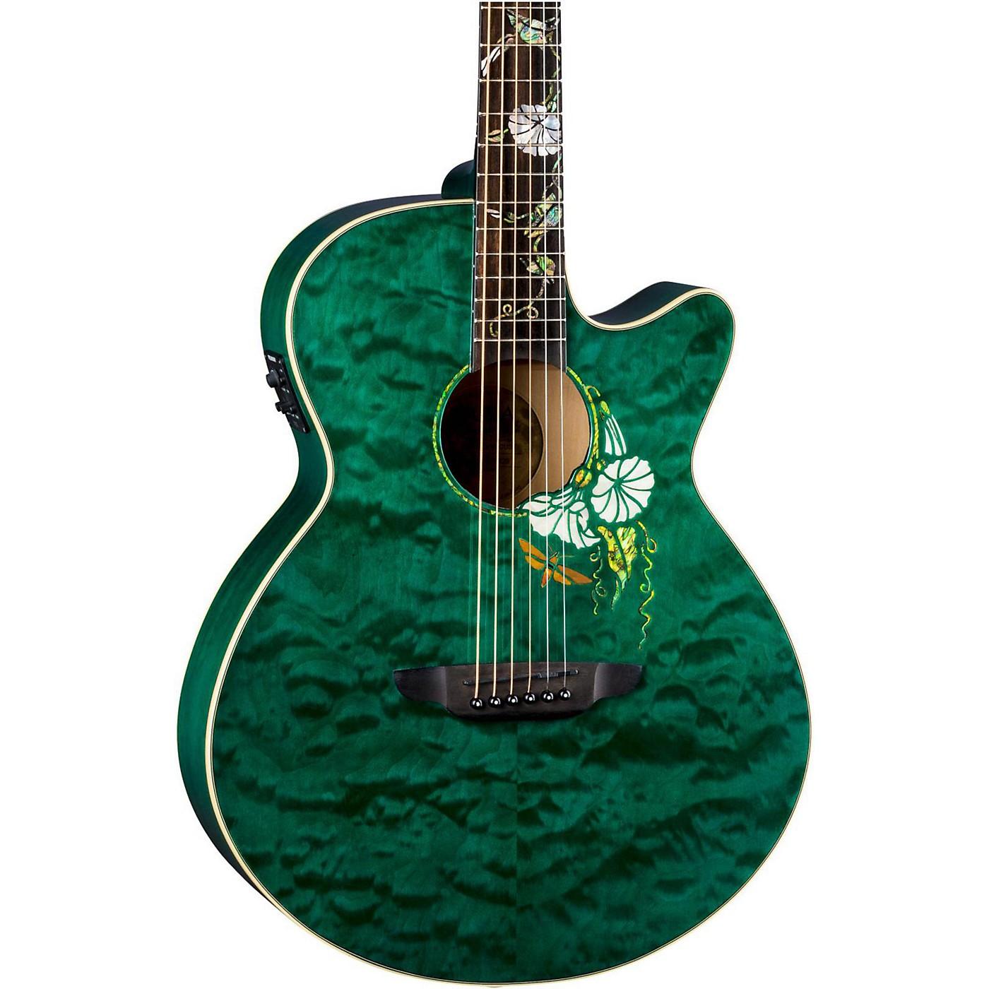 Luna Guitars Flora Moonflower Acoustic-Electric Guitar thumbnail
