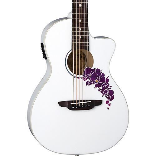 Luna Guitars Flora Orchid Select Spruce Parlor Acoustic-Electric Guitar thumbnail
