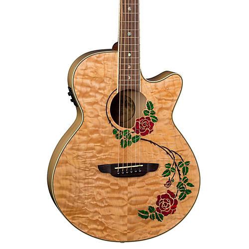 Luna Guitars Flora Rose Acoustic-Electric Guitar thumbnail