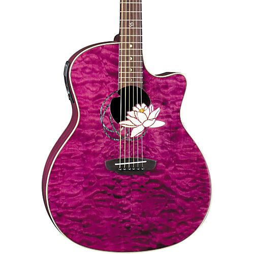 Luna Guitars Flora Series Lotus Grand Auditorium Cutaway Acoustic-Electric Guitar thumbnail