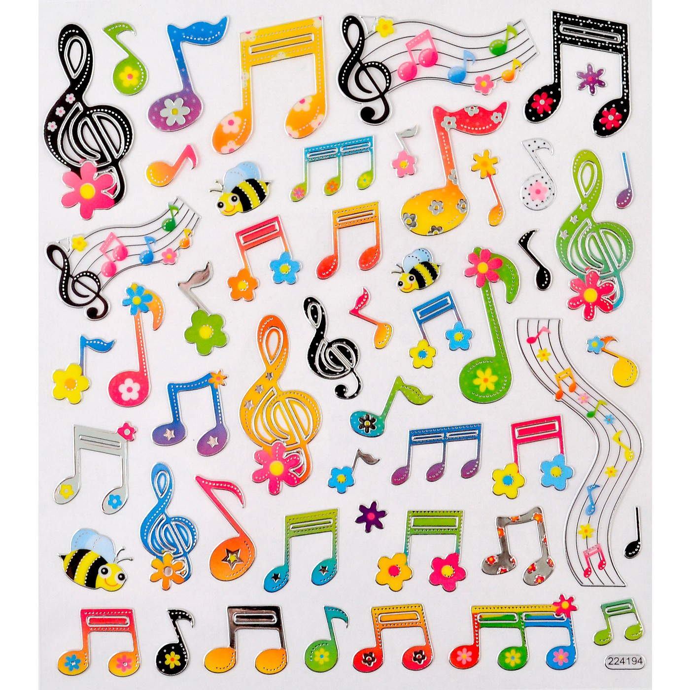 AIM Floral Music Note Stickers thumbnail