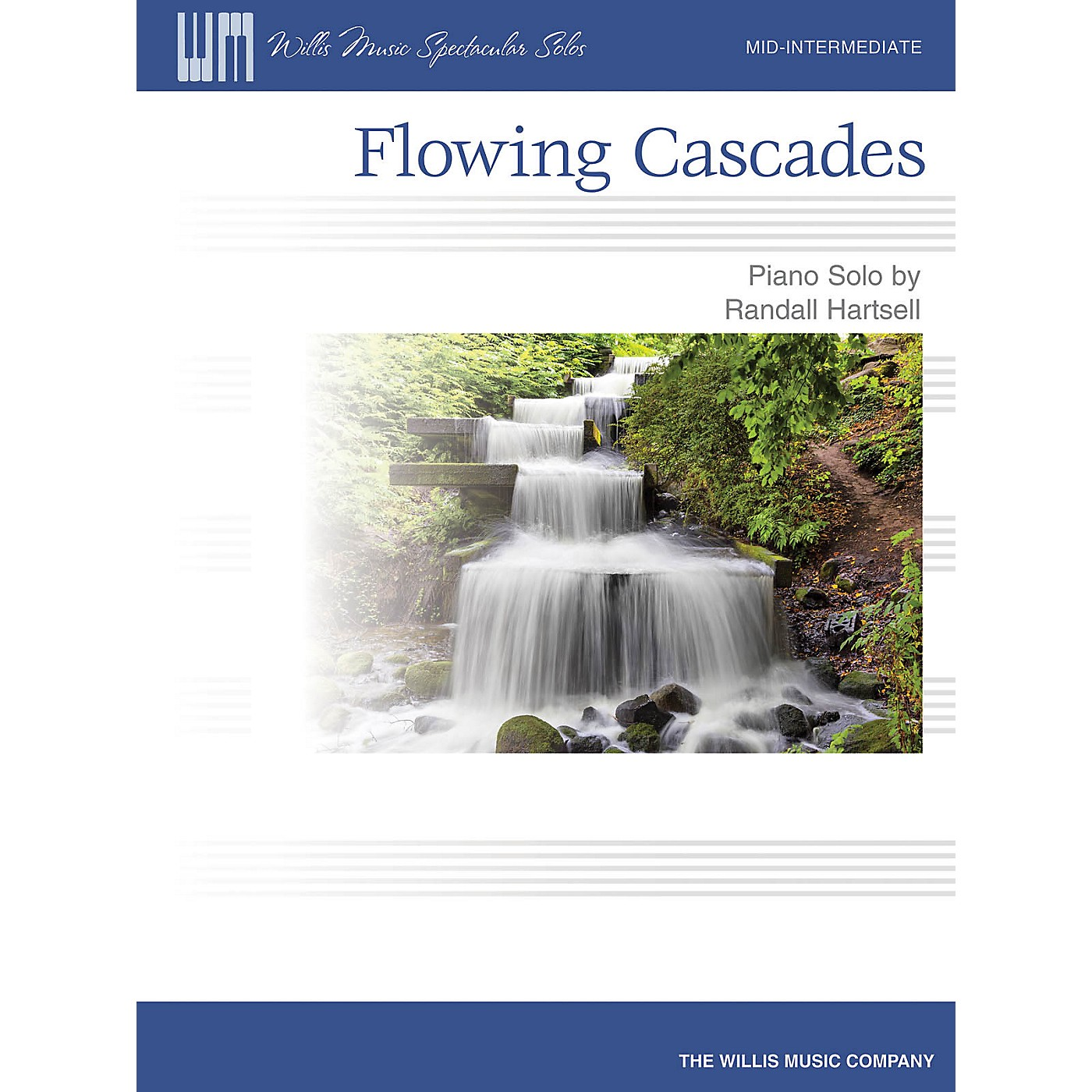 Willis Music Flowing Cascades (Mid-Inter Level) Willis Series by Randall Hartsell thumbnail