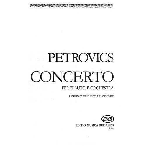 Editio Musica Budapest Flute Concerto EMB Series by Emil Petrovics thumbnail