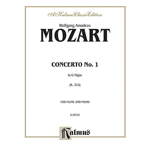 Alfred Flute Concerto No. 1 K. 313 (G Major) for Flute By Wolfgang Amadeus Mozart  Book thumbnail