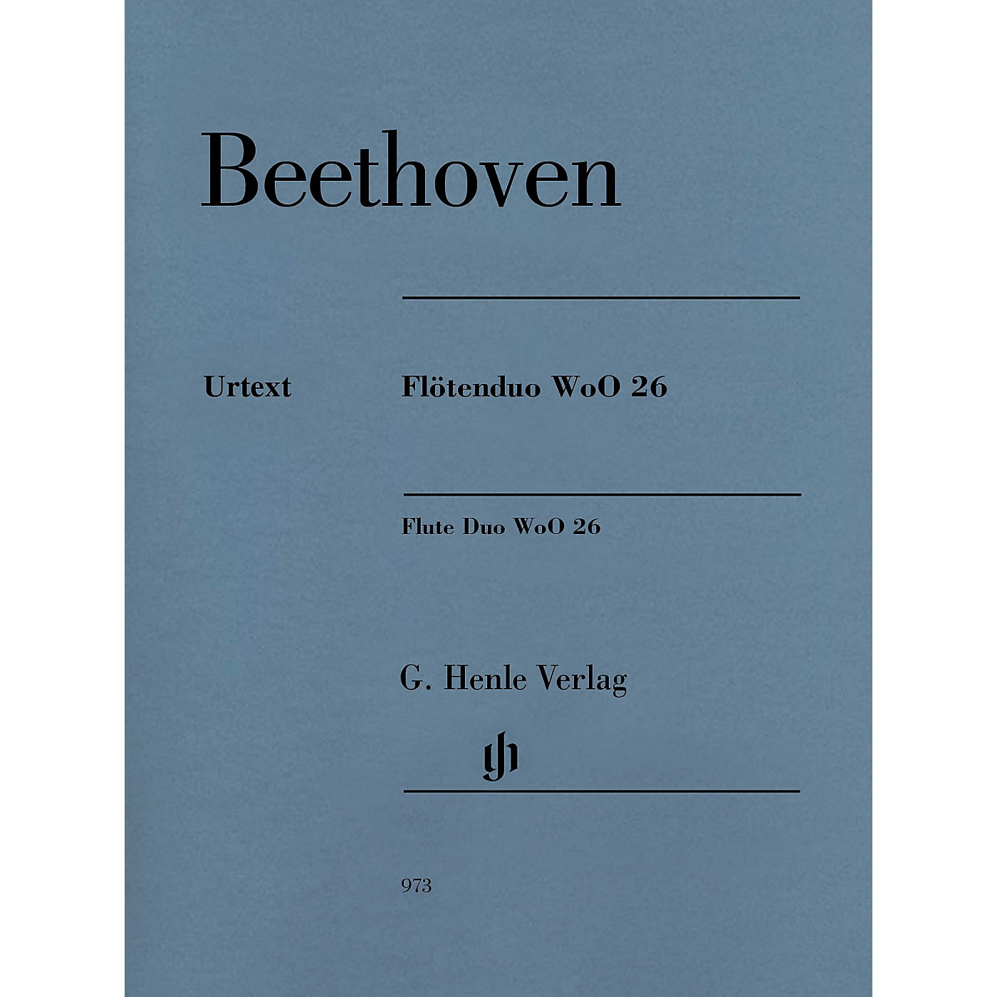 G. Henle Verlag Flute Duo, WoO. 26 Henle Music Folios Series Softcover thumbnail