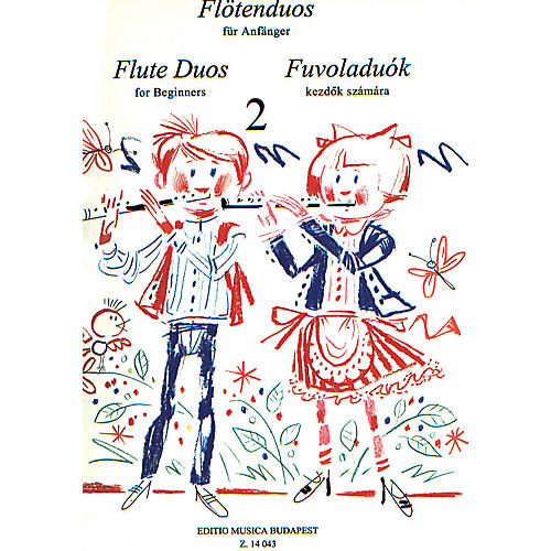Editio Musica Budapest Flute Duos for Beginners - Volume 2 EMB Series thumbnail