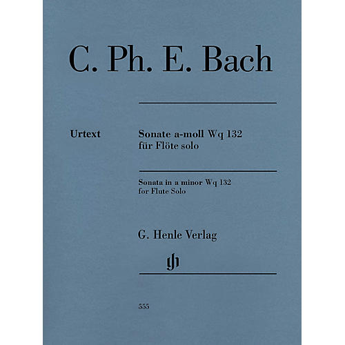 G. Henle Verlag Flute Sonata A minor Wq 132 Henle Music Softcover by Carl Philipp Emanuel Bach Edited by Marion Beyer thumbnail