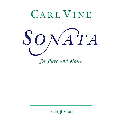 Faber Piano Adventures Flute Sonata for Flute By Carl Vine Book thumbnail