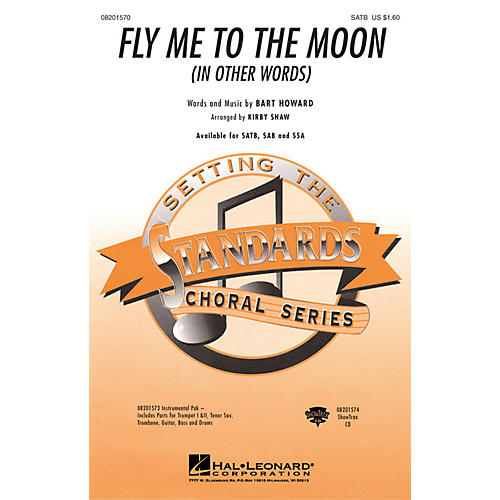 Hal Leonard Fly Me To The Moon (In Other Words) SAB Arranged by Kirby Shaw thumbnail