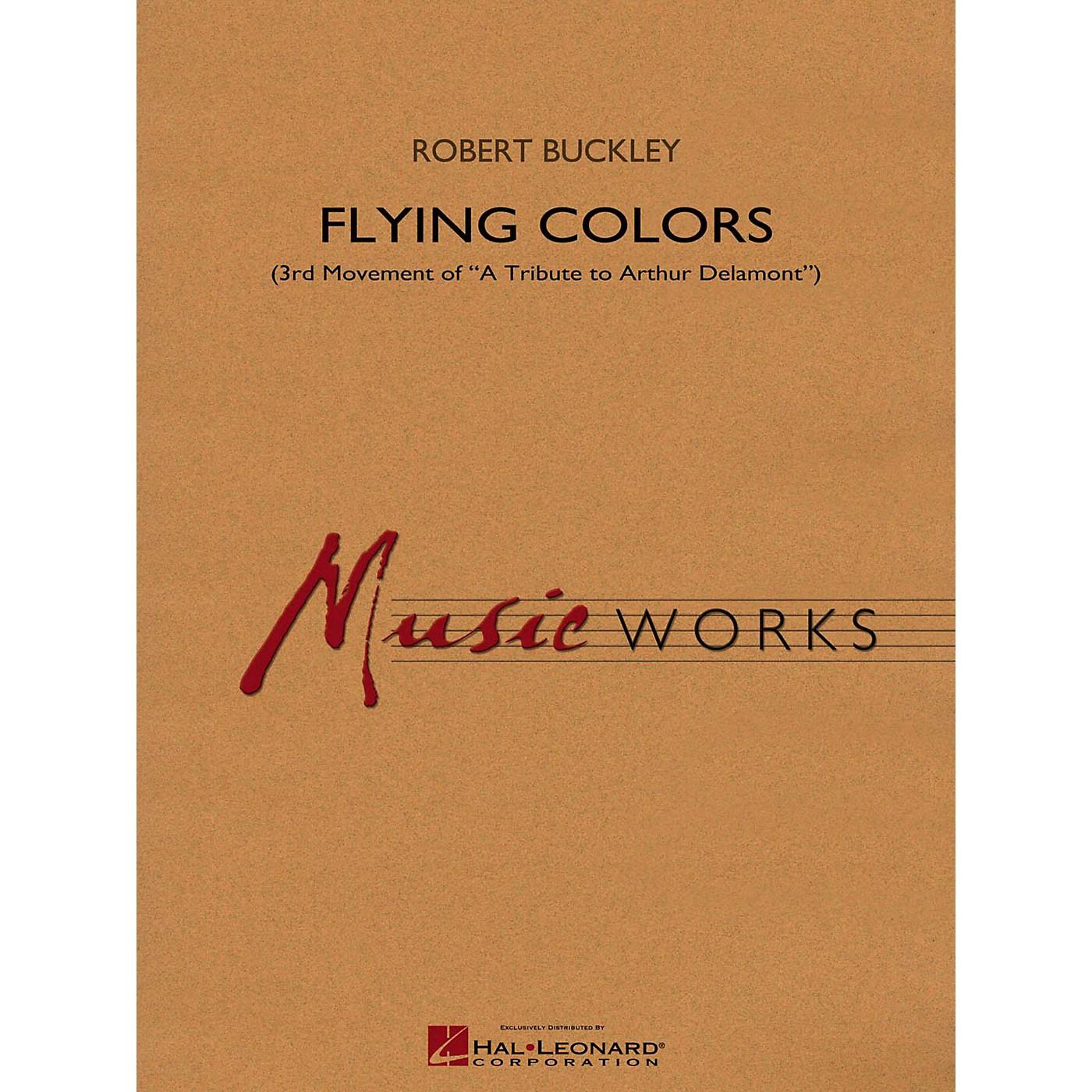 Hal Leonard Flying Colors (3rd Mvt Of  A Tribute To Arthur Delamont) Concert Band Level 4 thumbnail