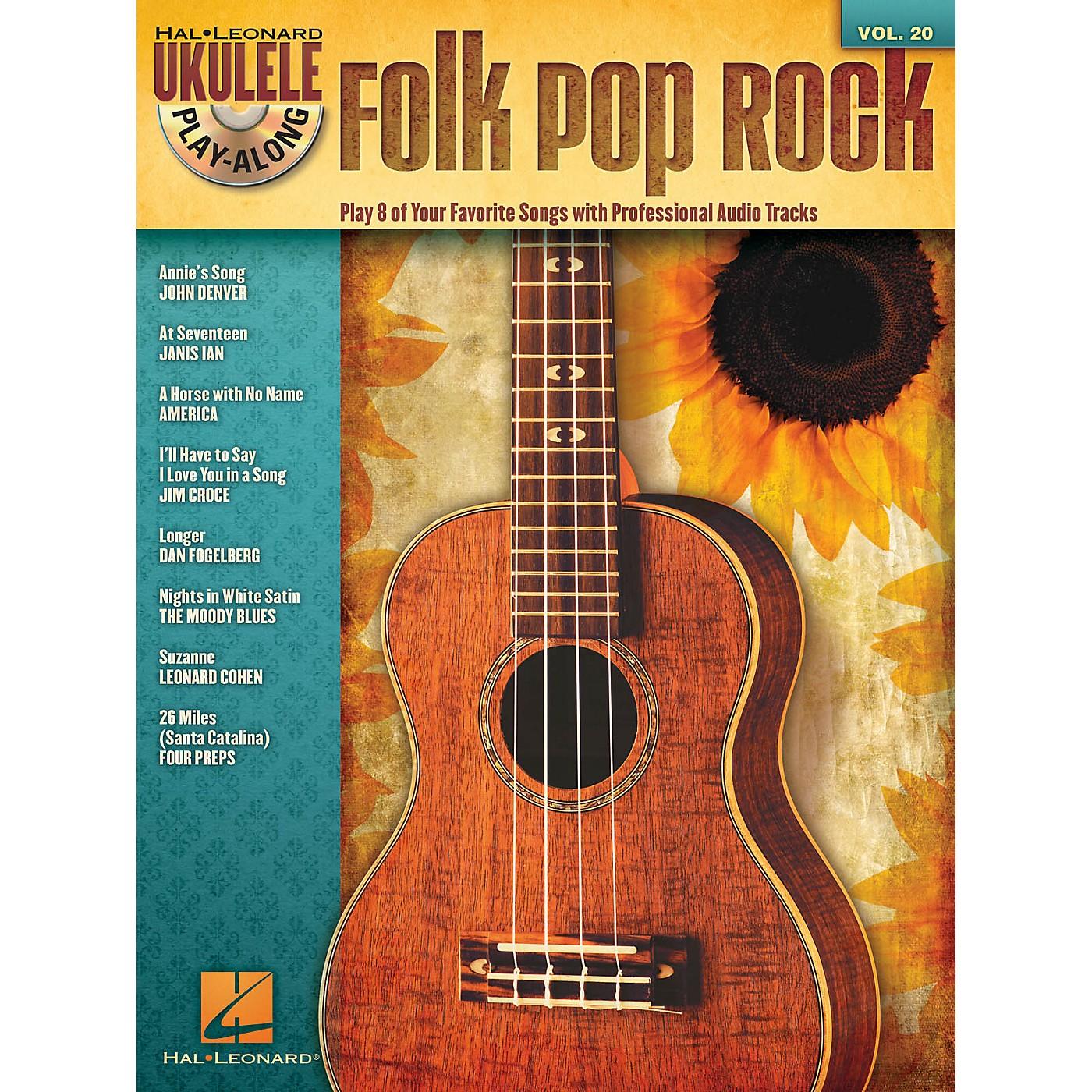 Hal Leonard Folk Pop Rock (Ukulele Play-Along Volume 20) Ukulele Play-Along Series Softcover with CD thumbnail