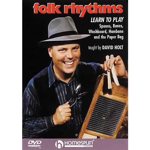 Homespun Folk Rhythms: Learn To Play Spoons, Bones, Washboard, Hambone and the Paper Bag (DVD) thumbnail