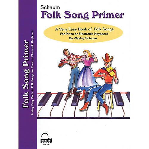 SCHAUM Folk Song Primer Educational Piano Book (Level Early Elem) thumbnail