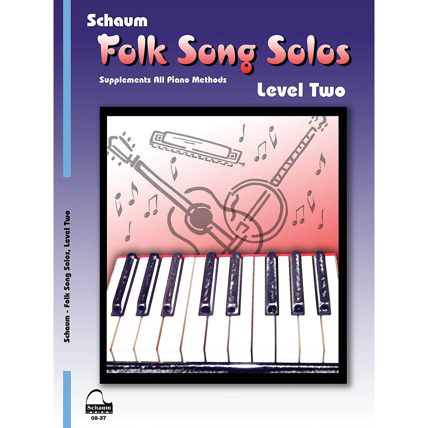 SCHAUM Folk Song Solos (Level 2) Educational Piano Book (Level Late Elem) thumbnail