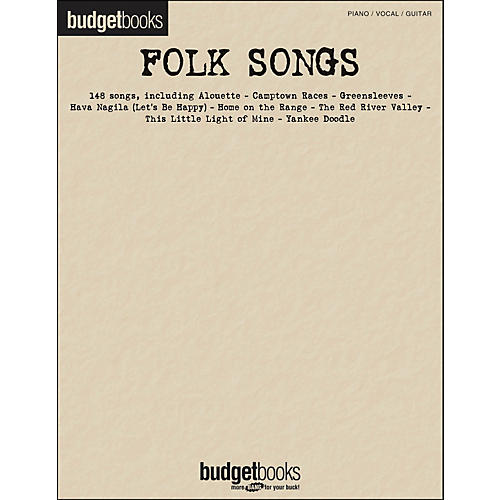 Hal Leonard Folk Songs Budget Book arranged for piano, vocal, and guitar (P/V/G)-thumbnail