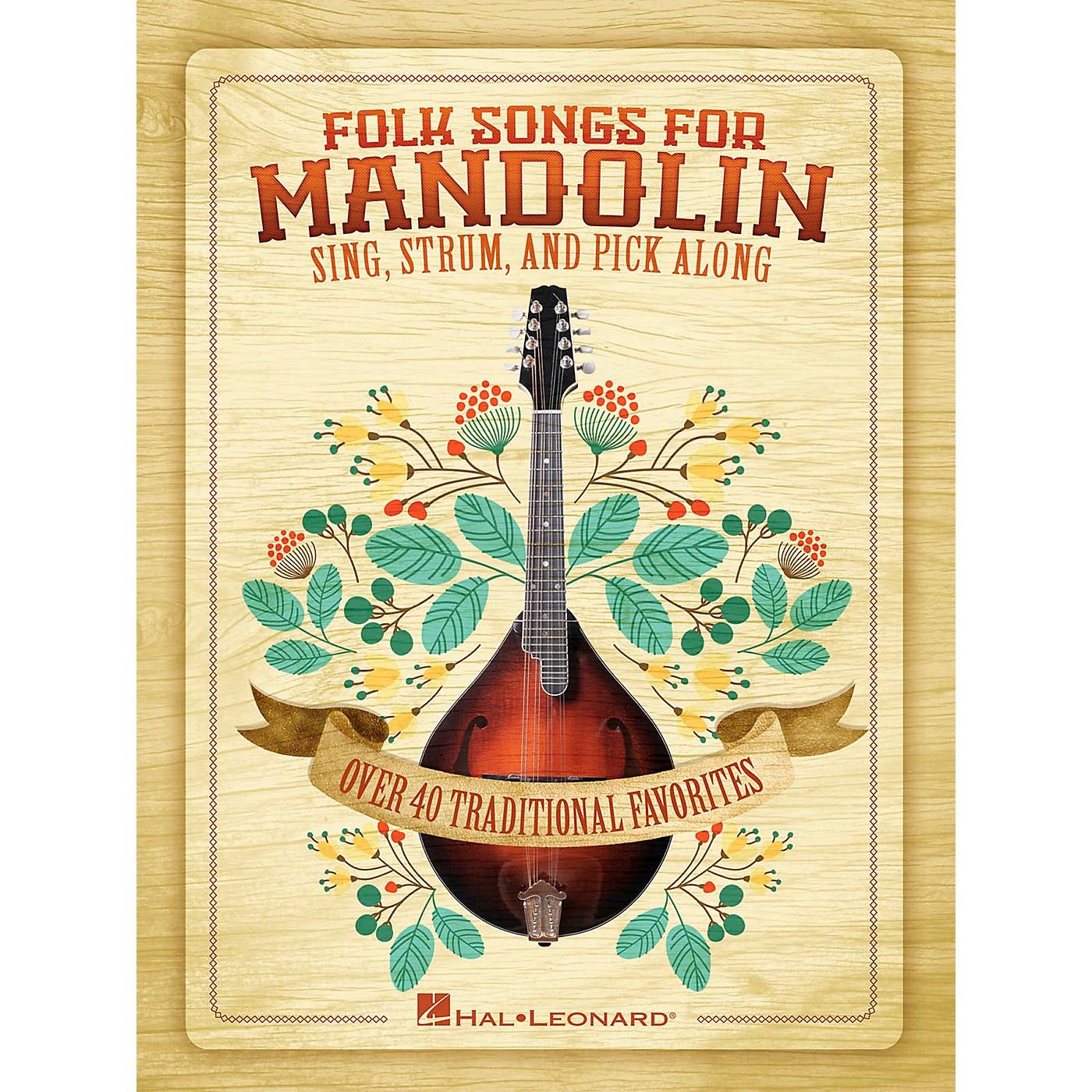 Hal Leonard Folk Songs For Mandolin - Sing, Strum and Pick Along thumbnail