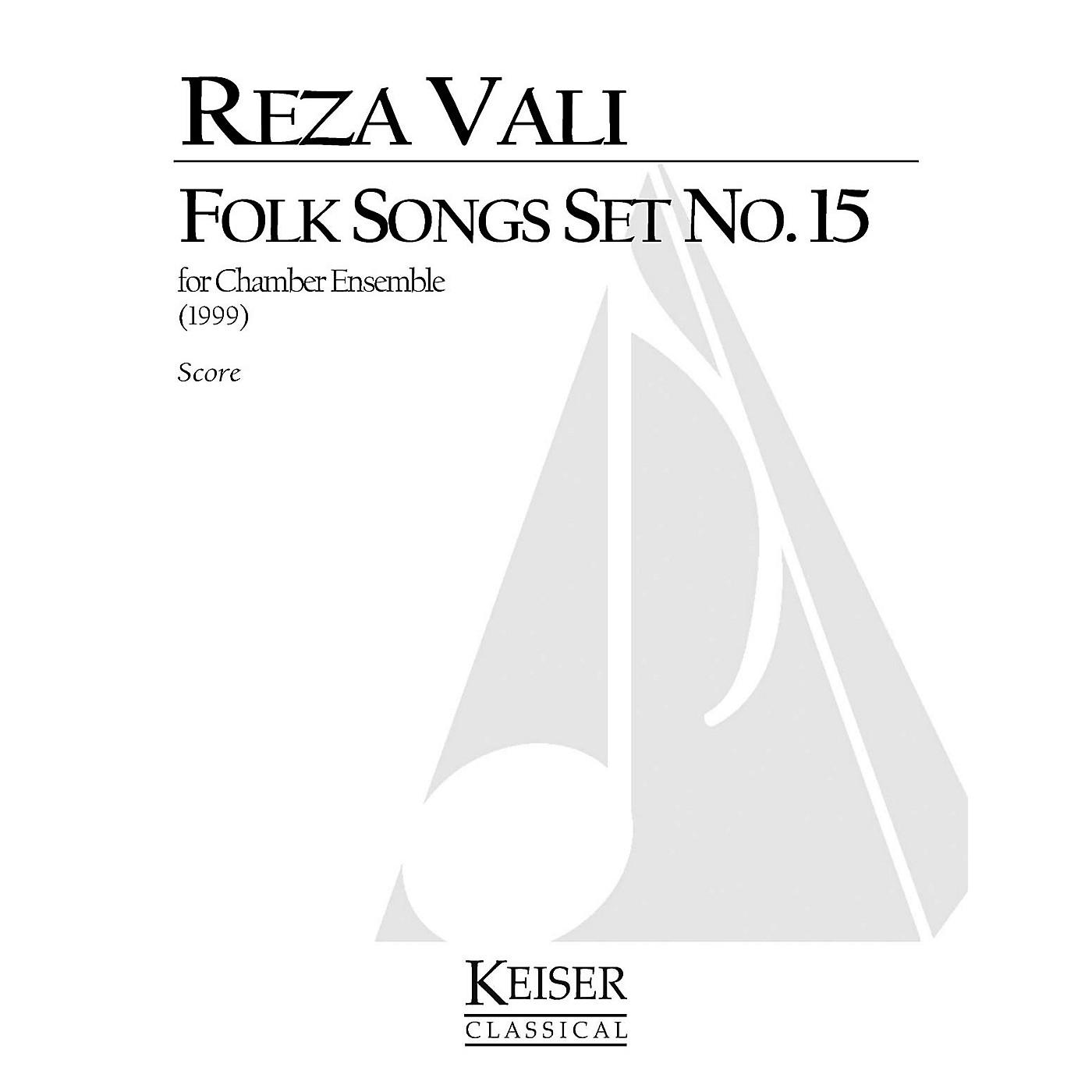 Lauren Keiser Music Publishing Folk Songs: Set No. 15 for 5 Players, Full Score LKM Music Series by Reza Vali thumbnail