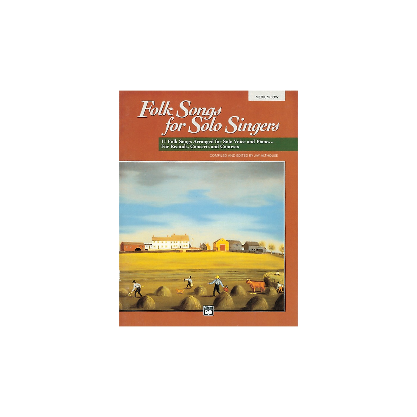 Alfred Folk Songs for Solo Singers Vol. 1 Book & CD (Medium Low) thumbnail