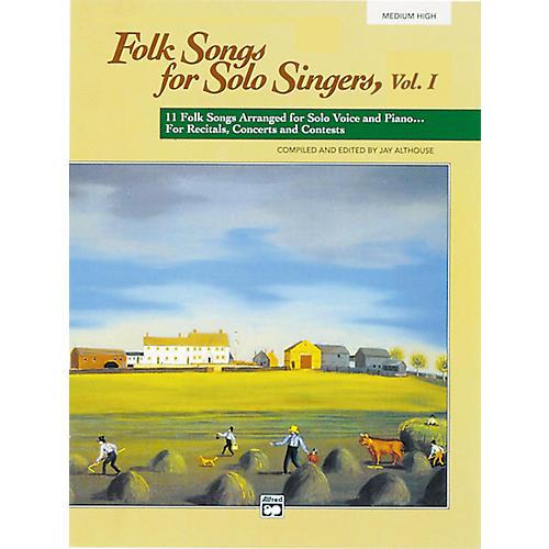 Alfred Folk Songs for Solo Singers Vol. 1 Book (Medium High) thumbnail