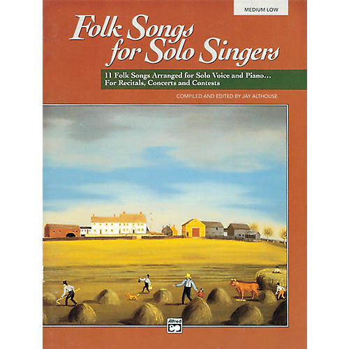 Alfred Folk Songs for Solo Singers Vol. 1 Book (Medium Low) thumbnail