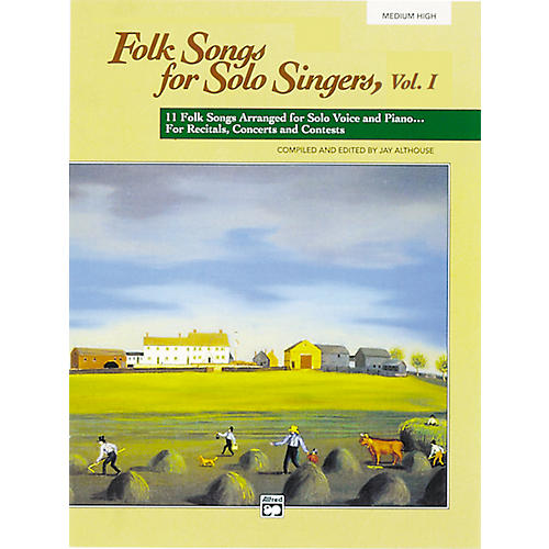 Alfred Folk Songs for Solo Singers Vol. 1 Medium High Voice Book & CD thumbnail