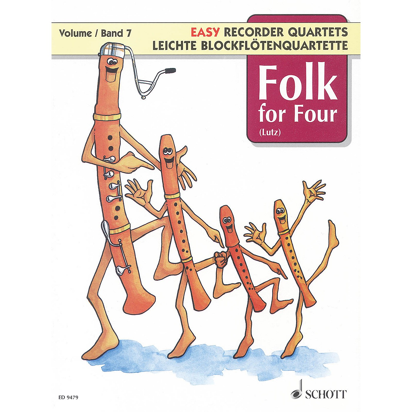 Schott Folk for Four - Volume 7 Schott Series Softcover  by Various Arranged by Wilhelm Lutz thumbnail