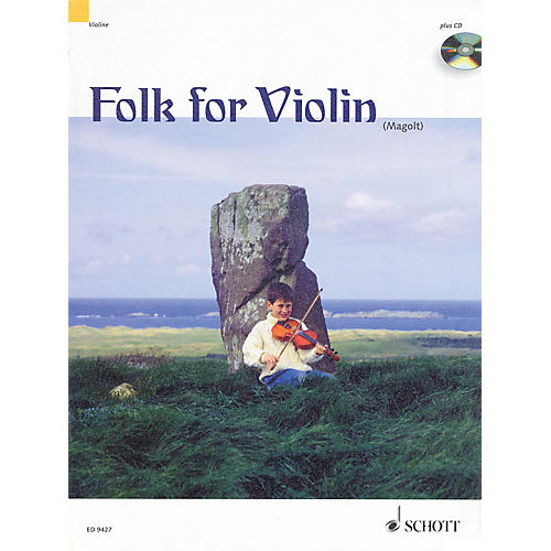 Schott Folk for Violin (in Very Easy Arrangements for 1-2 Violins) Schott Series Composed by Hans Magolt thumbnail