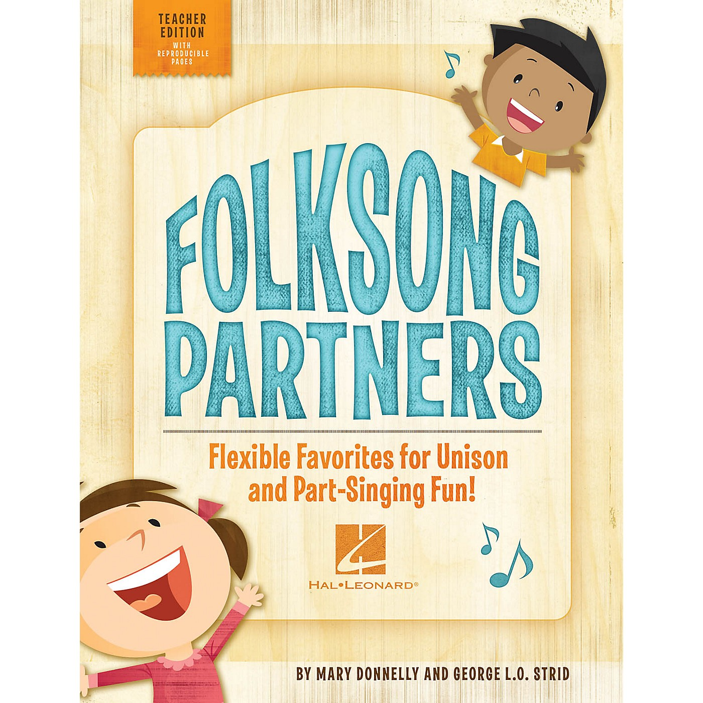 Hal Leonard Folksong Partners (Flexible Favorites for Unison and Part-Singing Fun!) TEACHER ED by George L.O. Strid thumbnail