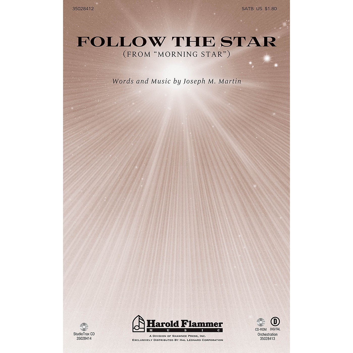 Shawnee Press Follow the Star (from Morning Star) SATB composed by Joseph M. Martin thumbnail