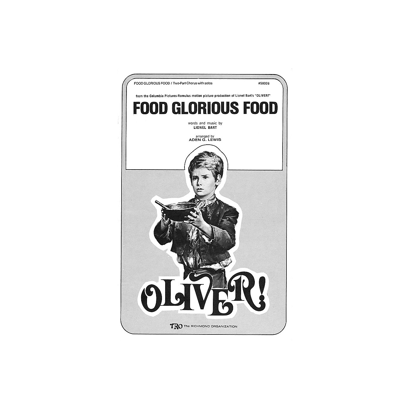 Hal Leonard Food Glorious Food (from Oliver) Arranged by Aden G. Lewis thumbnail