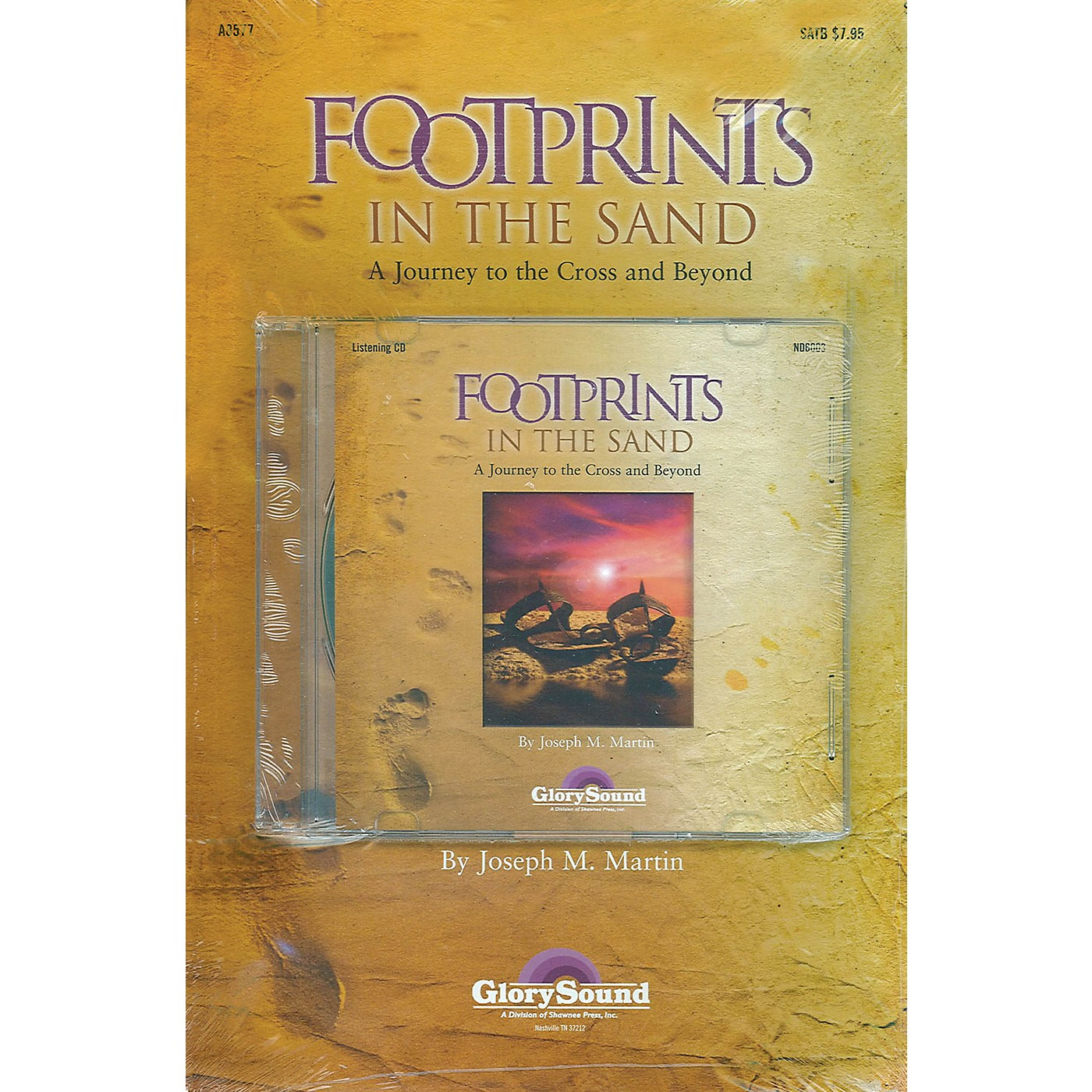 Shawnee Press Footprints in the Sand (Preview Pak (Book/CD)) Preview Pak composed by Joseph Martin thumbnail