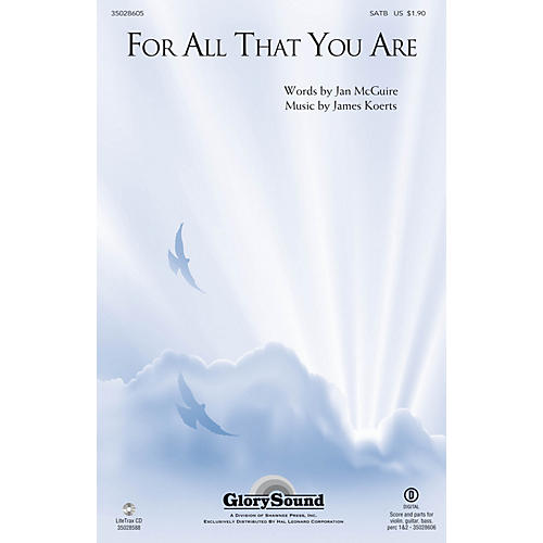 Shawnee Press For All That You Are SATB composed by James Koerts thumbnail