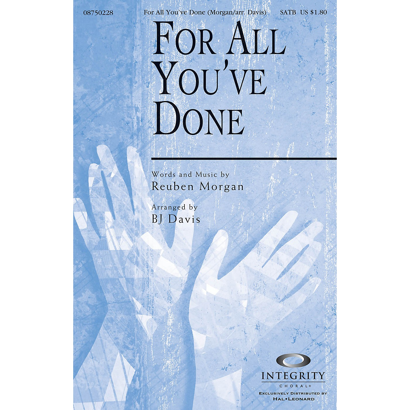 Integrity Choral For All You've Done CD ACCOMP Arranged by BJ Davis thumbnail