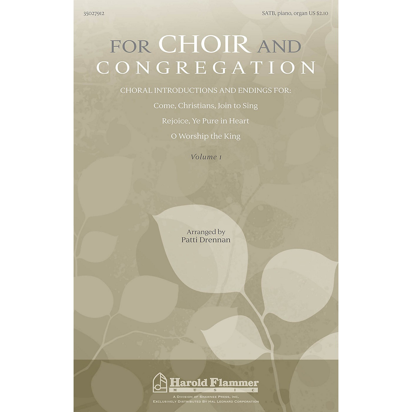 Shawnee Press For Choir and Congregation, Volume 1 SATB, PIANO AND ORGAN arranged by Patti Drennan thumbnail