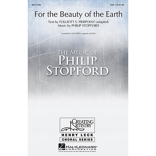 Hal Leonard For the Beauty of the Earth SAATTBB A CAPPELLA composed by Philip Stopford thumbnail