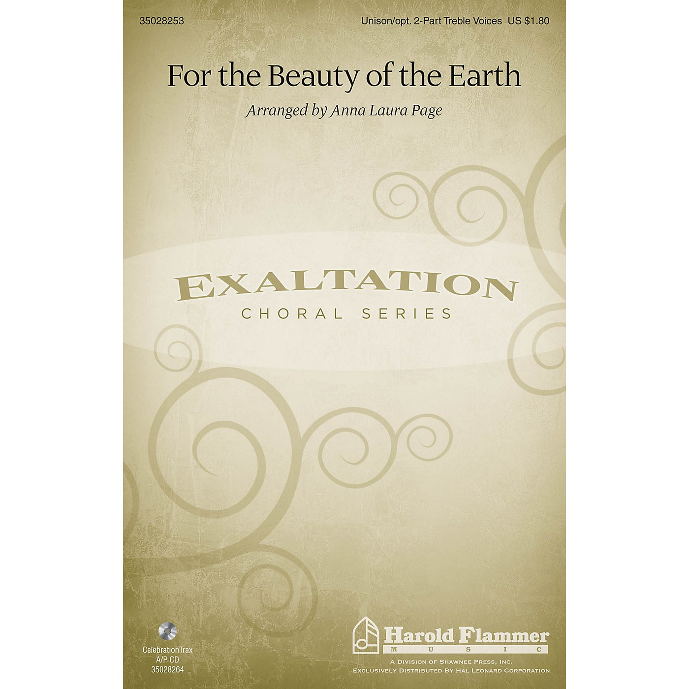 Shawnee Press For the Beauty of the Earth Unison/2-Part Treble arranged by Anna Laura Page thumbnail