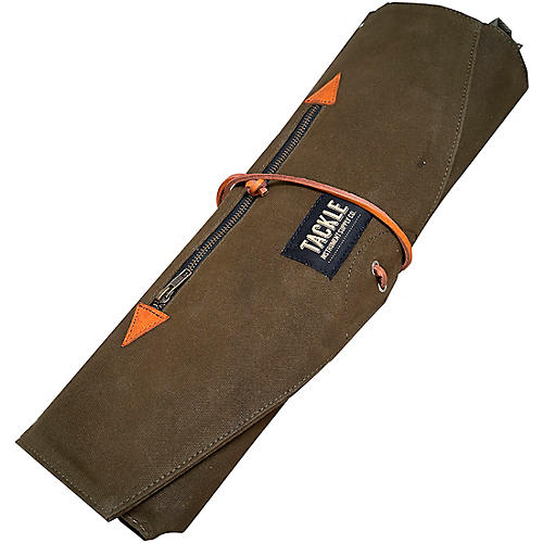 Tackle Instrument Supply Forest Green Waxed Canvas Roll Up Stick Bag thumbnail