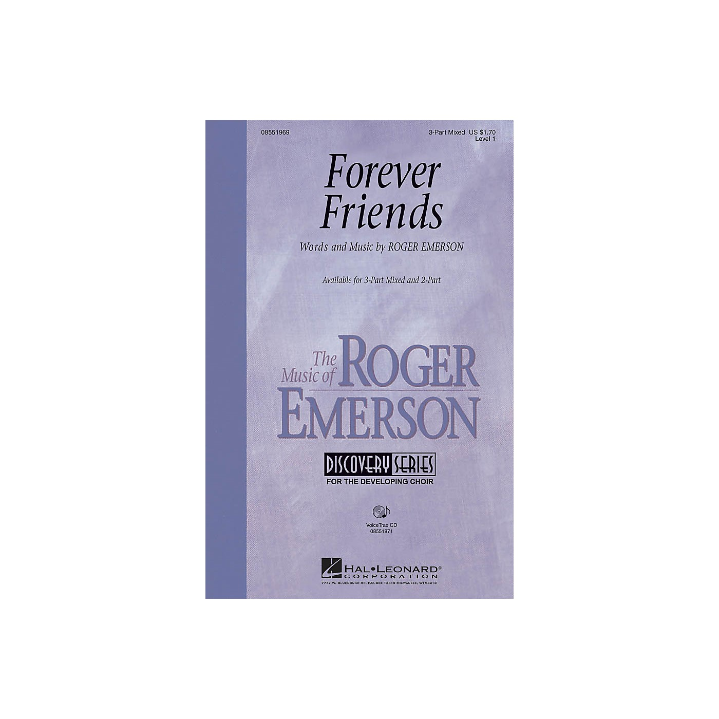 Hal Leonard Forever Friends 3-Part Mixed composed by Roger Emerson thumbnail