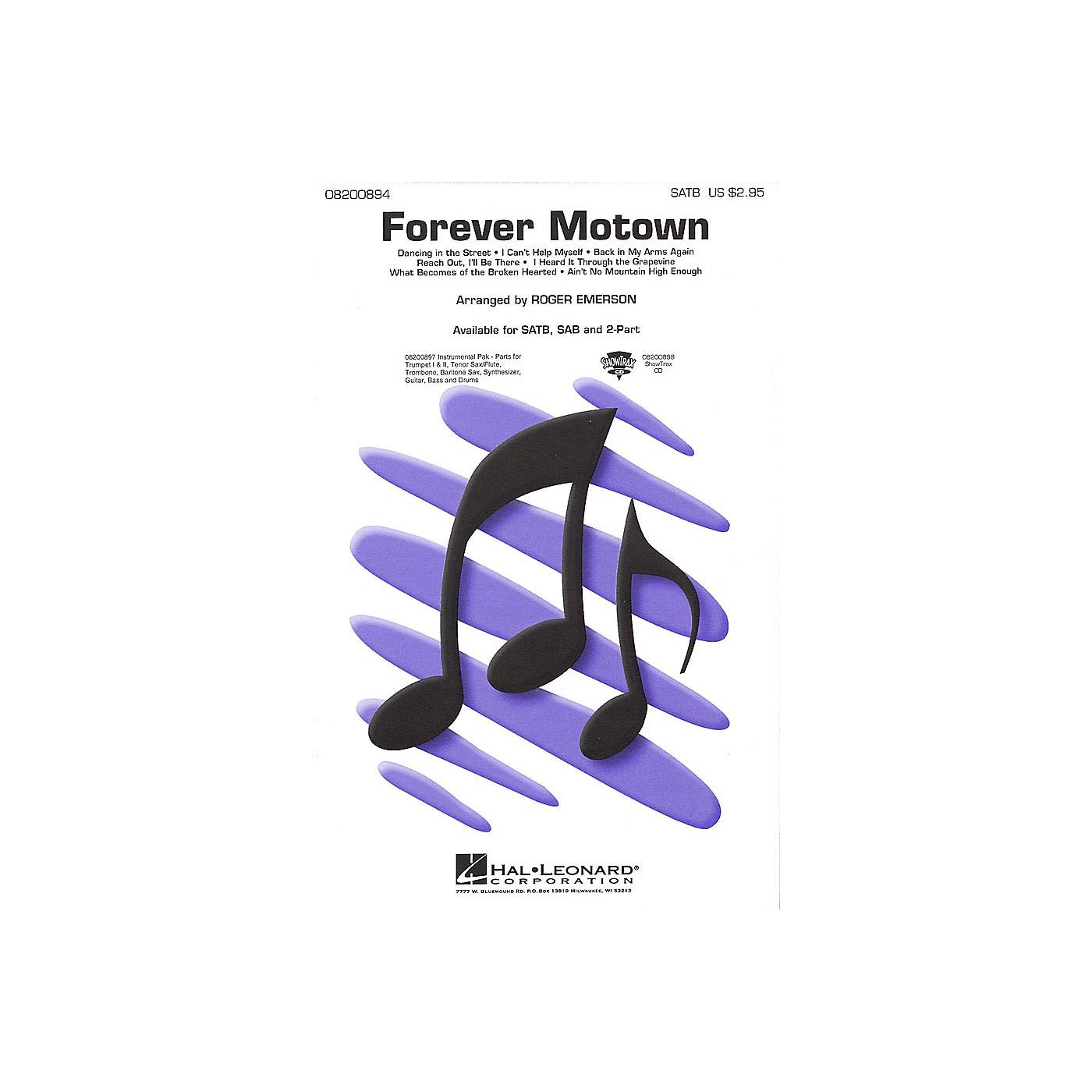 Hal Leonard Forever Motown (Medley) 2-Part Arranged by Roger Emerson thumbnail