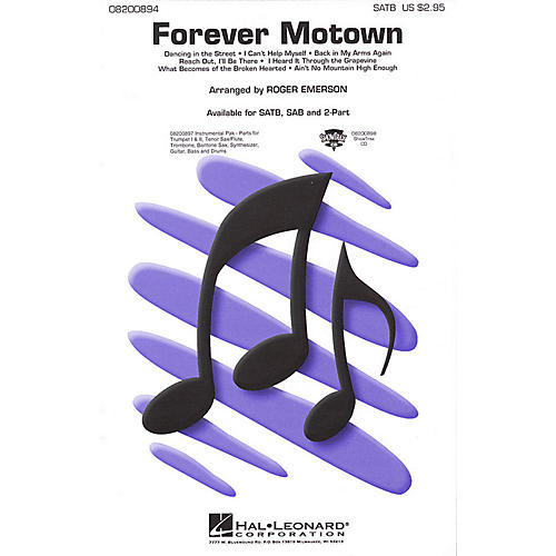 Hal Leonard Forever Motown (Medley) 2-Part Arranged by Roger Emerson thumbnail