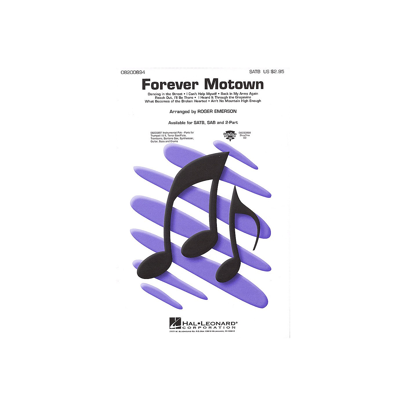 Hal Leonard Forever Motown (Medley) ShowTrax CD Arranged by Roger Emerson thumbnail