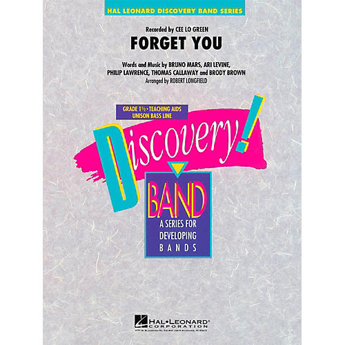 Hal Leonard Forget You  - Discovery Concert Band Level 1 thumbnail