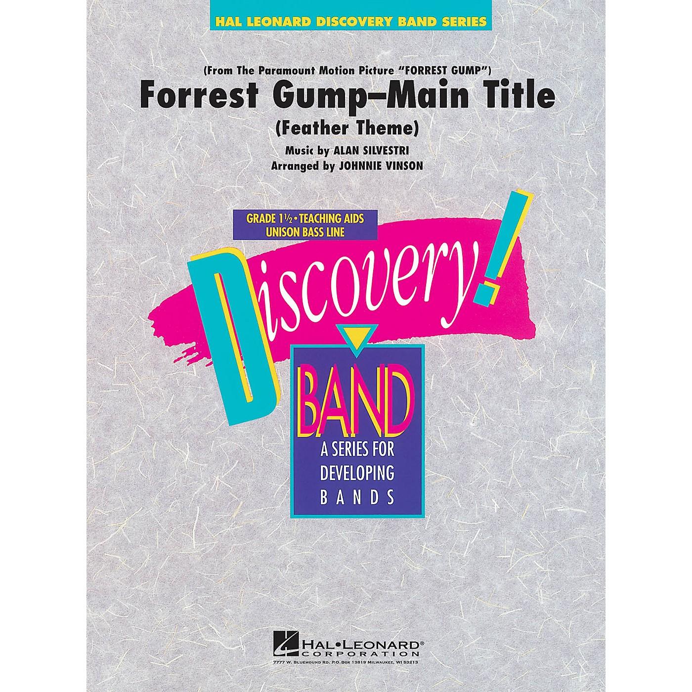 Hal Leonard Forrest Gump - Main Title Concert Band Level 1.5 Arranged by Johnnie Vinson thumbnail