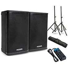 "Fender Fortis F-10BT 10"" Powered Speaker Pair and Power Strip"