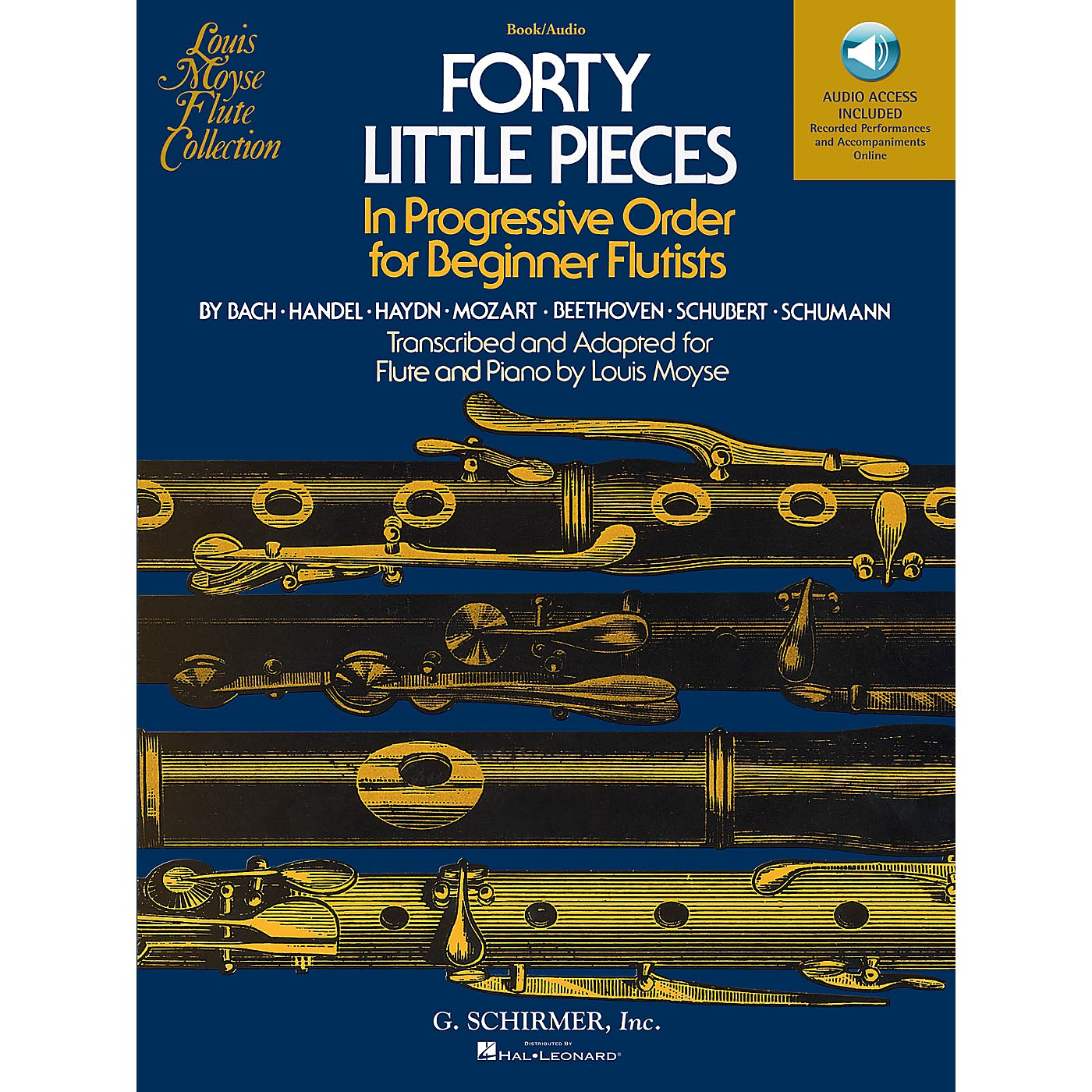 G. Schirmer Forty Little Pieces Woodwind Solo Series Softcover Audio Online Composed by Various Edited by Louis Moyse thumbnail