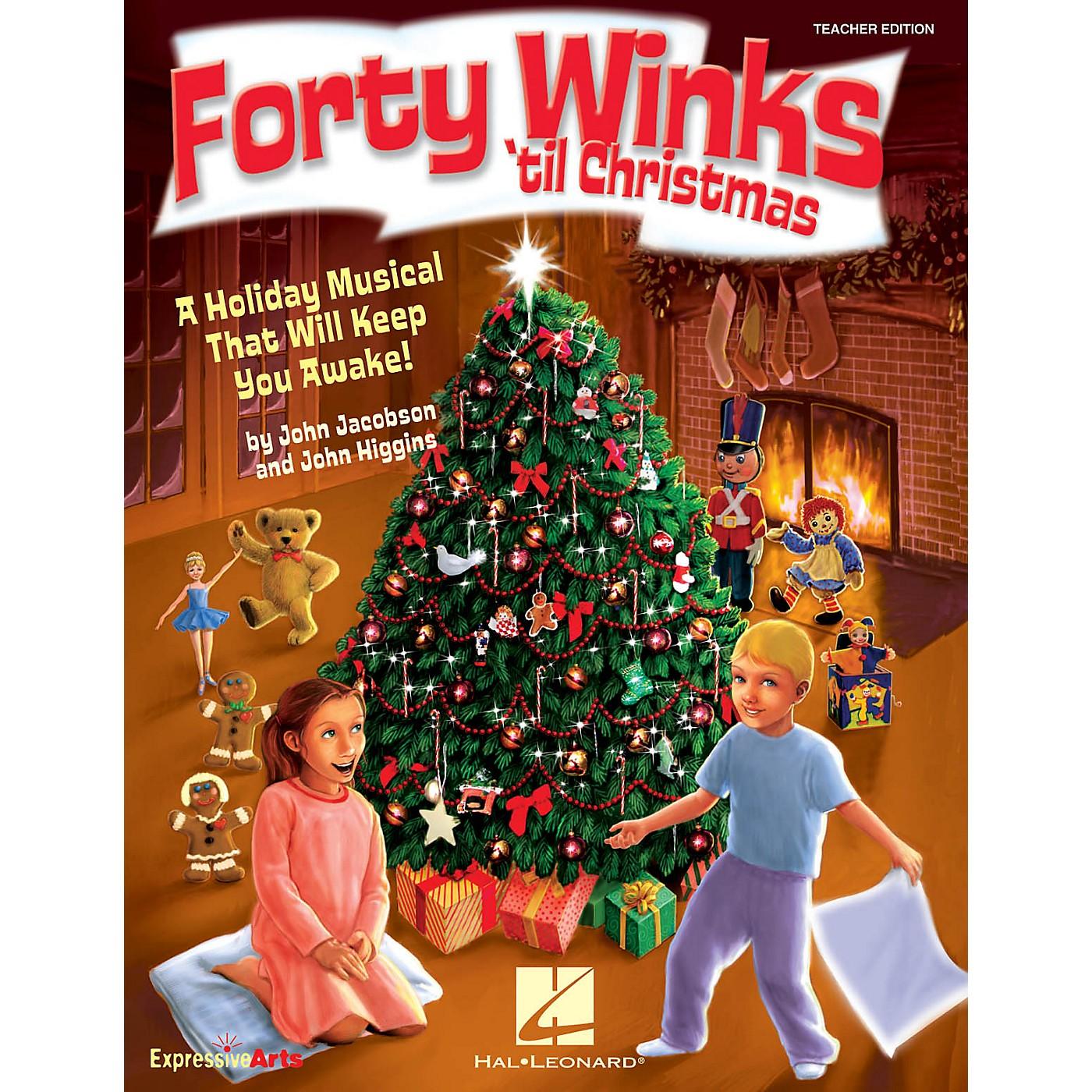 Hal Leonard Forty Winks 'Til Christmas (A Holiday Musical That Will Keep You Awake!) TEACHER ED by John Higgins thumbnail