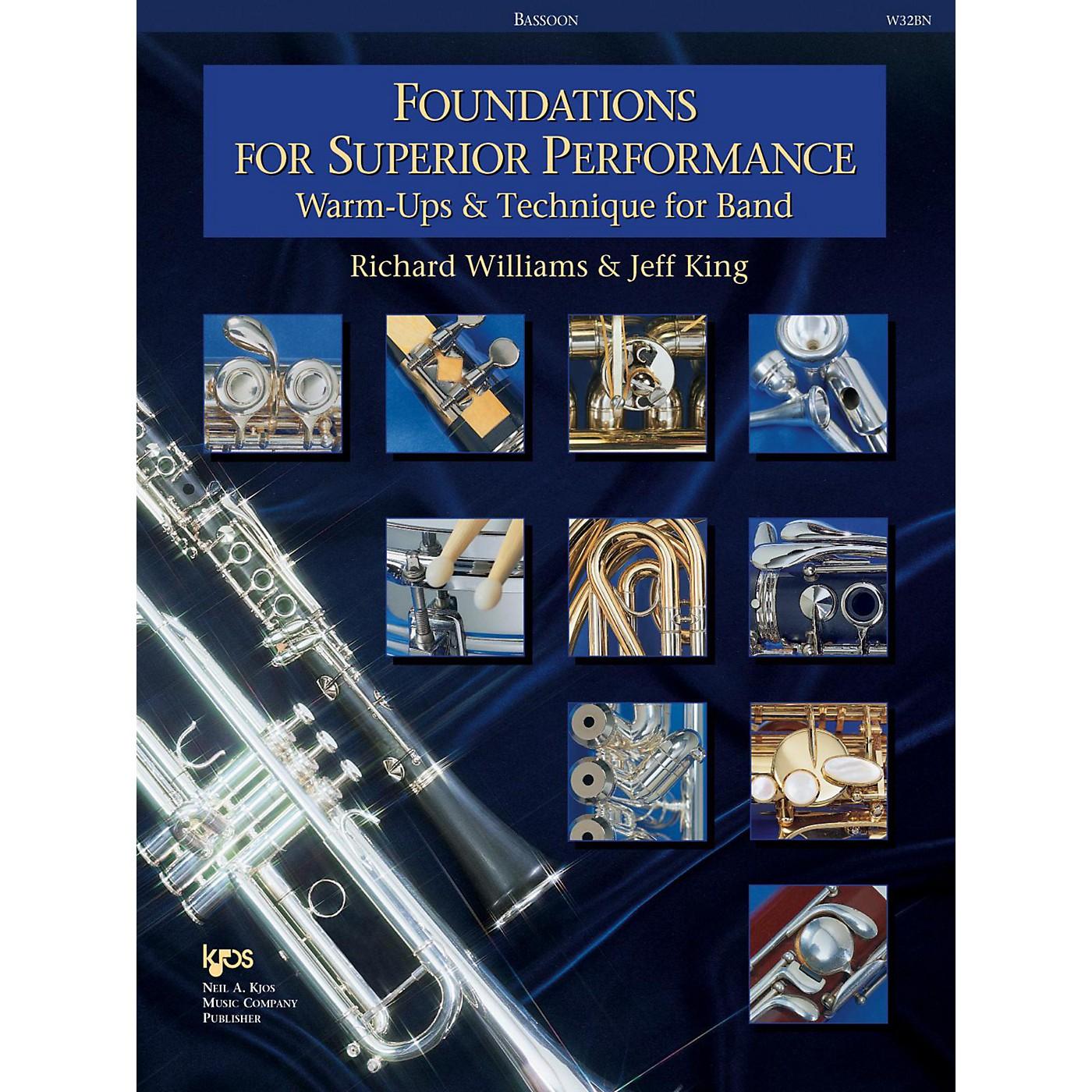 KJOS Foundations for Superior Performance Bassoon thumbnail