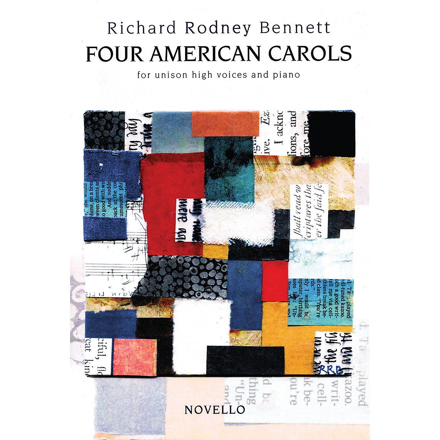 Novello Four American Carols (Unison High Voices and Piano) Composed by Richard Rodney Bennett thumbnail