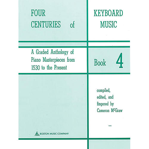 Music Sales Four Centuries Of Keyboard Music Book 4 Music Sales America Series thumbnail