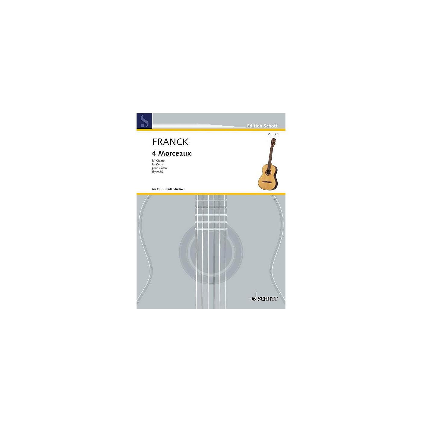 Schott Four Morceaux (Guitar Solo) Schott Series thumbnail